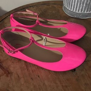 Children's Place Hot Pink Ankle Strap Mary Janes